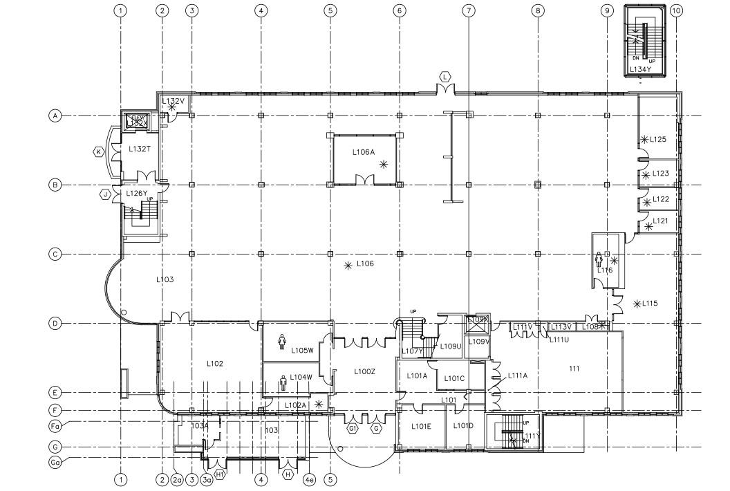 UBC Okanagan Library – Ground Level Floor Plan