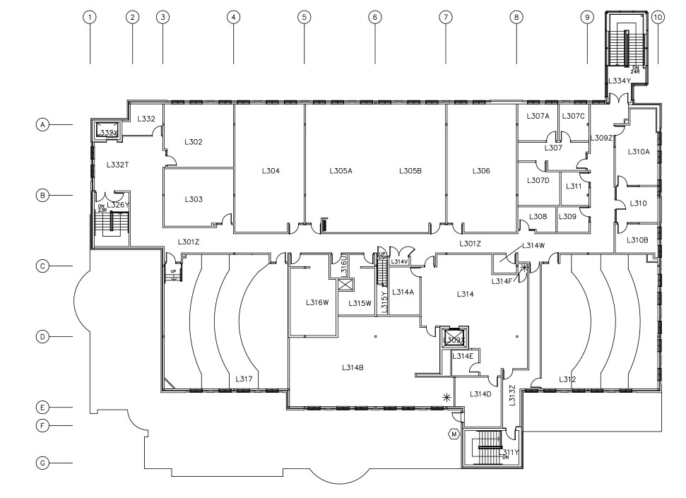 UBC Okanagan Library – Third Level Floor Plan